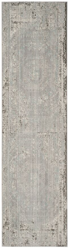 Privette Gray Area Rug Rug Size: Runner 2'3