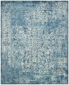Elson Blue/Ivory Area Rug Rug Size: Rectangle 12' x 18'