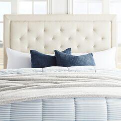 Felicienne Upholstered Panel Headboard Size: Full, Upholstery: Cream