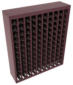 Karnes Pine Deluxe 120 Bottle Floor Wine Rack Finish: Burgundy Satin