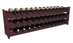 Karnes Pine Scalloped 36 Bottle Tabletop Wine Rack Finish: Burgundy