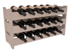 Karnes Pine Mini Scalloped 18 Bottle Tabletop Wine Rack Finish: Gray