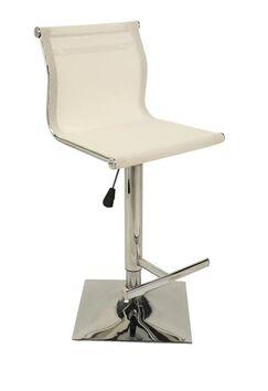 Steinmetz Adjustable Height Swivel Bar Stool Color: White