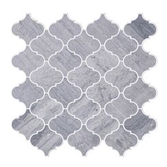 Shrine Veined Marble Tile in Gray