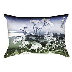 Clair Japanese Cherry Trees Rectangular Waterproof Lumbar Pillow Color: Blue/Green