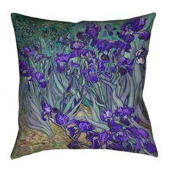 Morley Irises Square Floor Pillow Size: 28
