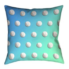 Volleyball Double Sided Print Pillow Cover Size: 16