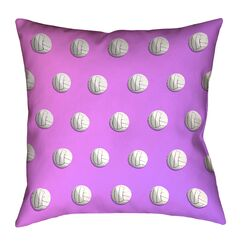 Square Double Side Print Volleyball Throw Pillow Size: 20