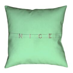 Hansard Nice Double Sided Print Pillow Cover Size: 18