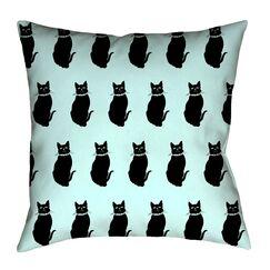 Pecora Cat Pattern Floor Pillow Size: 28