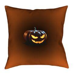 Jack-o-Lantern Indoor Throw Pillow Size: 18