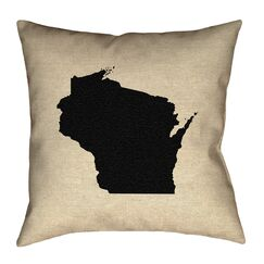 Sherilyn Wisconsin Floor Pillow Color: Black, Size: 20