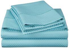 Edgardo 800 Thread Count Sheet Set Color: Teal, Size: Split King