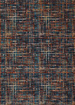 Blue/Orange Area Rug Rug Size: Rectangle 7' x 10'