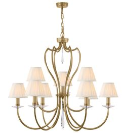 Briawood 9-Light Shaded Chandelier Finish: Aged Brass
