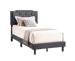 Indianapolis Upholstered Panel Bed Size: Full, Color: Light Gray