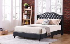 Cobbett Upholstered Panel Bed Size: King, Color: Black