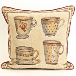 Halls Tapestry Cups Square Pillow Cover