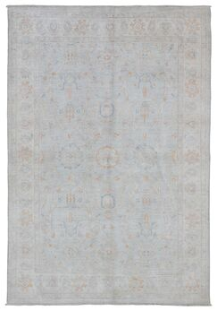 One-of-a-Kind Noi Peshawar Hand-Woven Wool Beige Area Rug