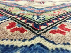 One-of-a-Kind  Roslyn Oriental Hand Woven Red Area Rug