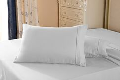 1800 Series Double Brushed Microfiber Pillow Case Color: Ivory, Size: King