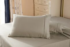 1800 Series Double Brushed Microfiber Pillow Case Color: Taupe, Size: Queen