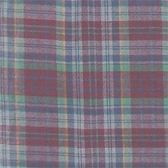 Burgundy Plaid Blue and Golden Lines Twin Bed Skirt / Dust Ruffle