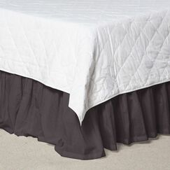 Solid Cotton Bed Skirt Size: King