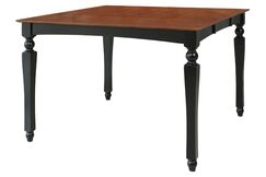 Northrop Counter Height Solid Wood Dining Table Color: Black/Saddle Brown