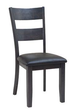 Dinsmore Ladder Back Solid Wood Dining Chair Color: Dark Gray, Set Of: Set of 6