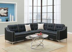 Sebrina Sectional Upholstery: Black