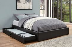 Showman Upholstered Storage Platform Bed Size: Twin