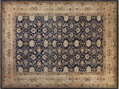 Xenos Hand-Knotted Wool Blue/Tan Area Rug