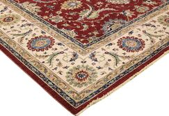 Xenos Hand-Knotted Wool Red/Ivory Area Rug