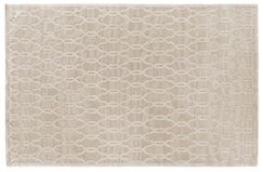 Harmony Hand Knotted Wool/Silk Light Beige Area Rug Rug Size: Rectangle 9' x 12'