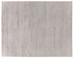 Perry Hand-Knotted Silk Light Gray Area Rug Rug Size: Rectangle 9' x 12'