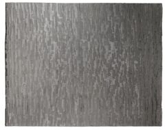 Super Tibetan Hand-Knotted Gray Area Rug