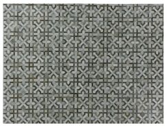 Natural Hide Hand Woven Cowhide Gray Area Rug Rug Size: Rectangle 11'6