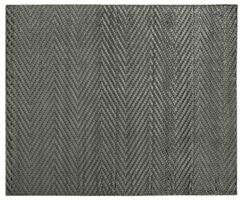 Kingsley Hand-Knotted Silk Dark Gray Area Rug Rug Size: Rectangle 14' x 18'