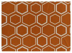 Hand-Woven Wool Orange/White Area Rug Rug Size: Rectangle 8' x 11'