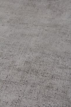 Duo Hand Woven Wool/Silk Gray Area Rug Rug Size: Rectangle 6' x 9'