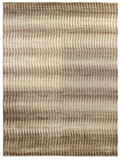 Hand-Knotted Beige/Brown Area Rug Rug Size: Rectangle 8' x 10'