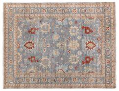 Fine Serapi Hand-Knotted Wool Blue/Beige Area Rug