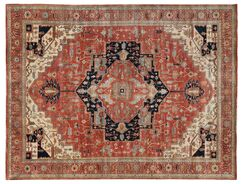 Fine Serapi Hand-Knotted Wool Red Area Rug Rug Size: 12' x 15'