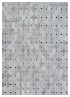 Natural Hide Hand-Tufted Cowhide Silver/Ivory/Gray Area Rug Rug Size: 13'6