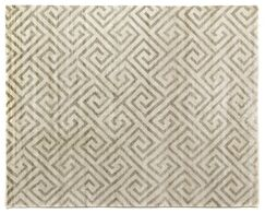 Hand Woven Silk Ivory Area Rug