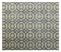 Windsor Hand-Woven Wool Beige/Blue Area Rug Rug Size: Rectangle14' x 18'