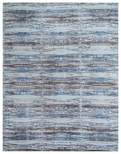 Reflections Hand-Woven Brown/Blue Area Rug Rug Size: Rectangle 8' x 10'