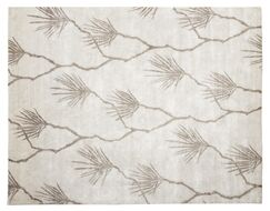 Hand-Knotted Beige Area Rug Rug Size: Rectangle 9' x 12'