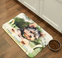Barkley Yorkshire Terrier Kitchen Mat Mat Size: 2'6